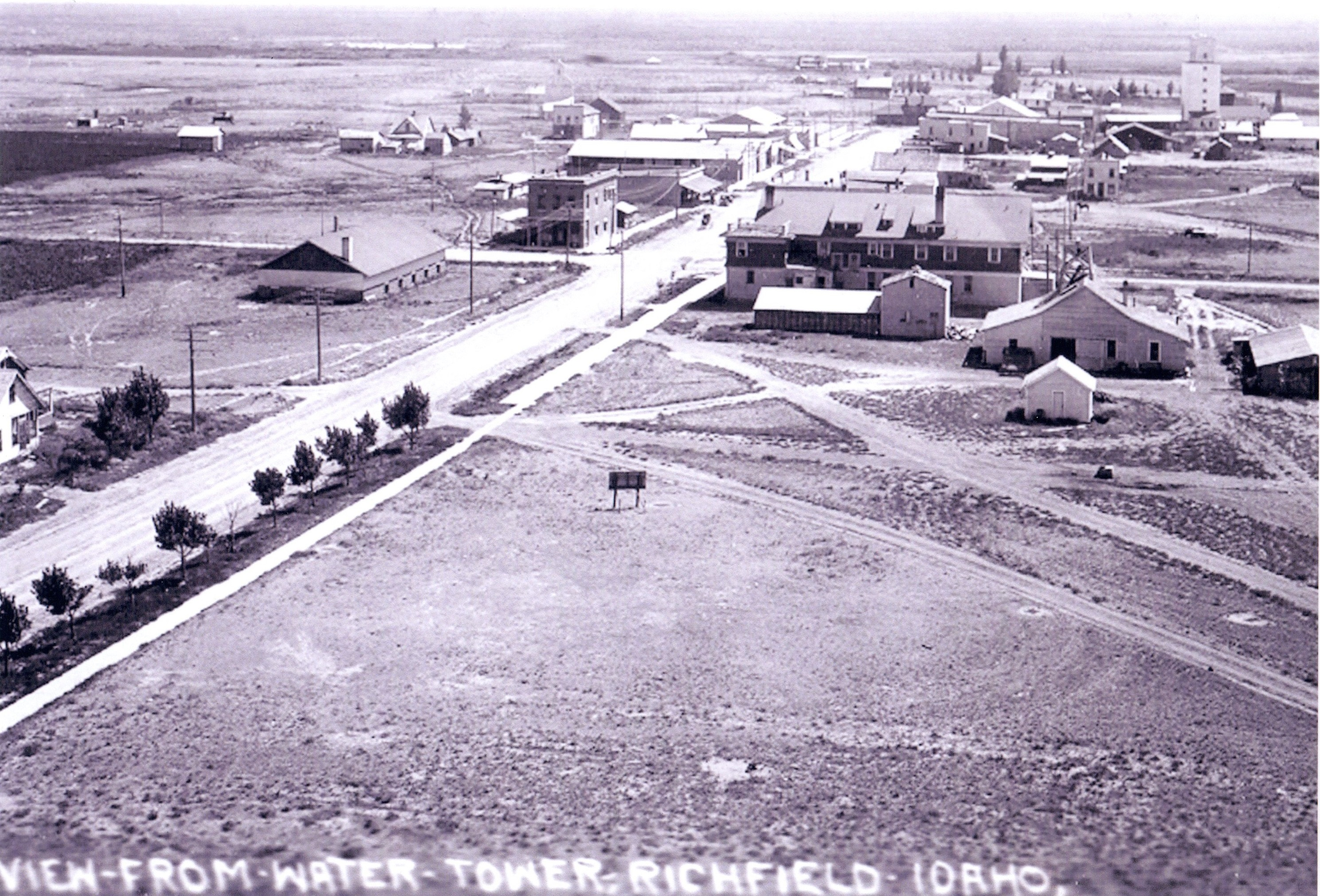 Historic Richfield, Idaho south from water tower
